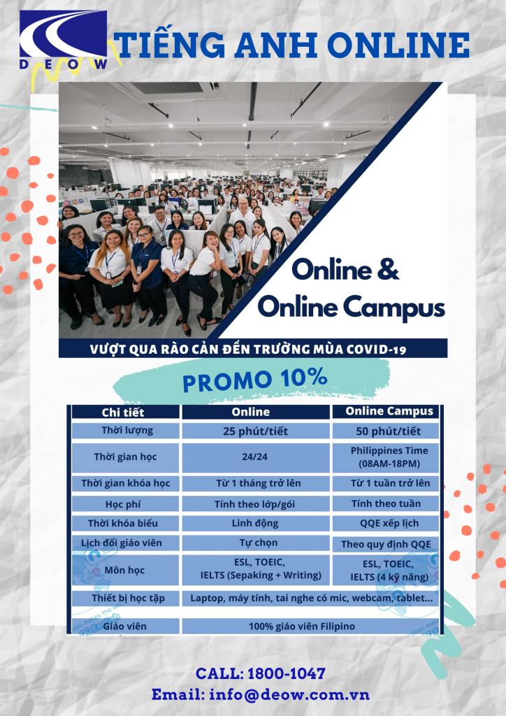 Tiếng Anh Online & Online Campus